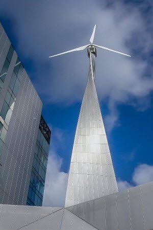 Sky Wind Turbine - Aluminium Facade